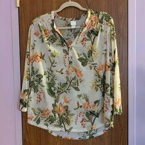 🌺H&M floral blouse size Large🌺